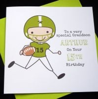 Rugby / American Football Birthday Card