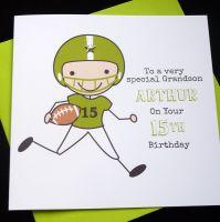 Rugby / American Football Birthday Card