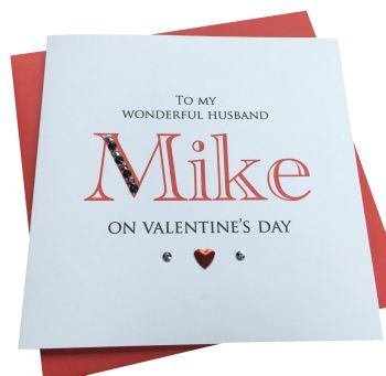 'Name' Valentines Card