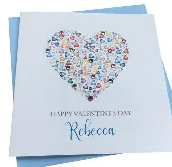 Pastel Valentine's Heart Card