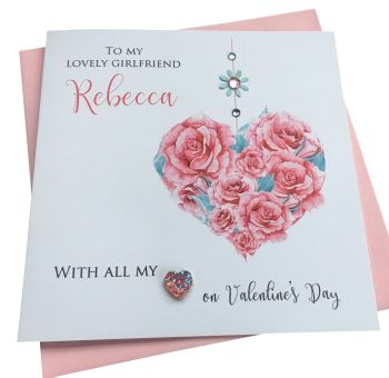Roses Heart Valentine's card
