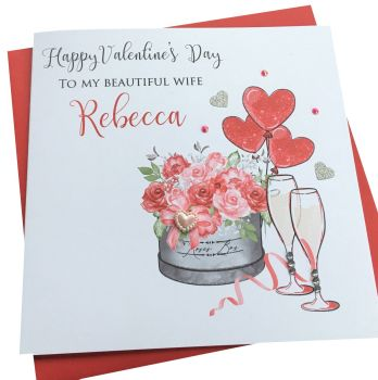 Champagnes & Roses Valentine's card