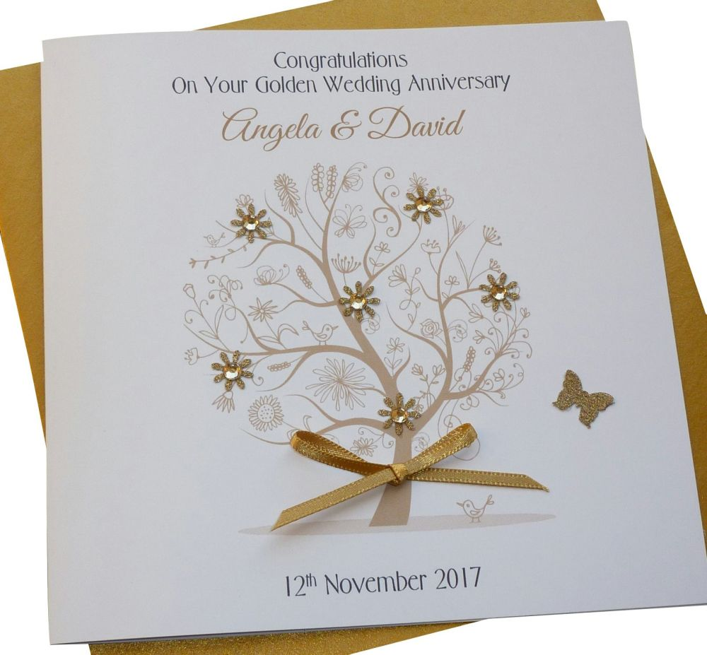 Gold Tree Card