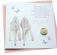 Lucky Sixpence Wedding Card