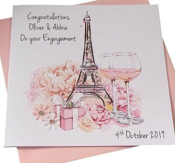 Paris Theme Celebration Card