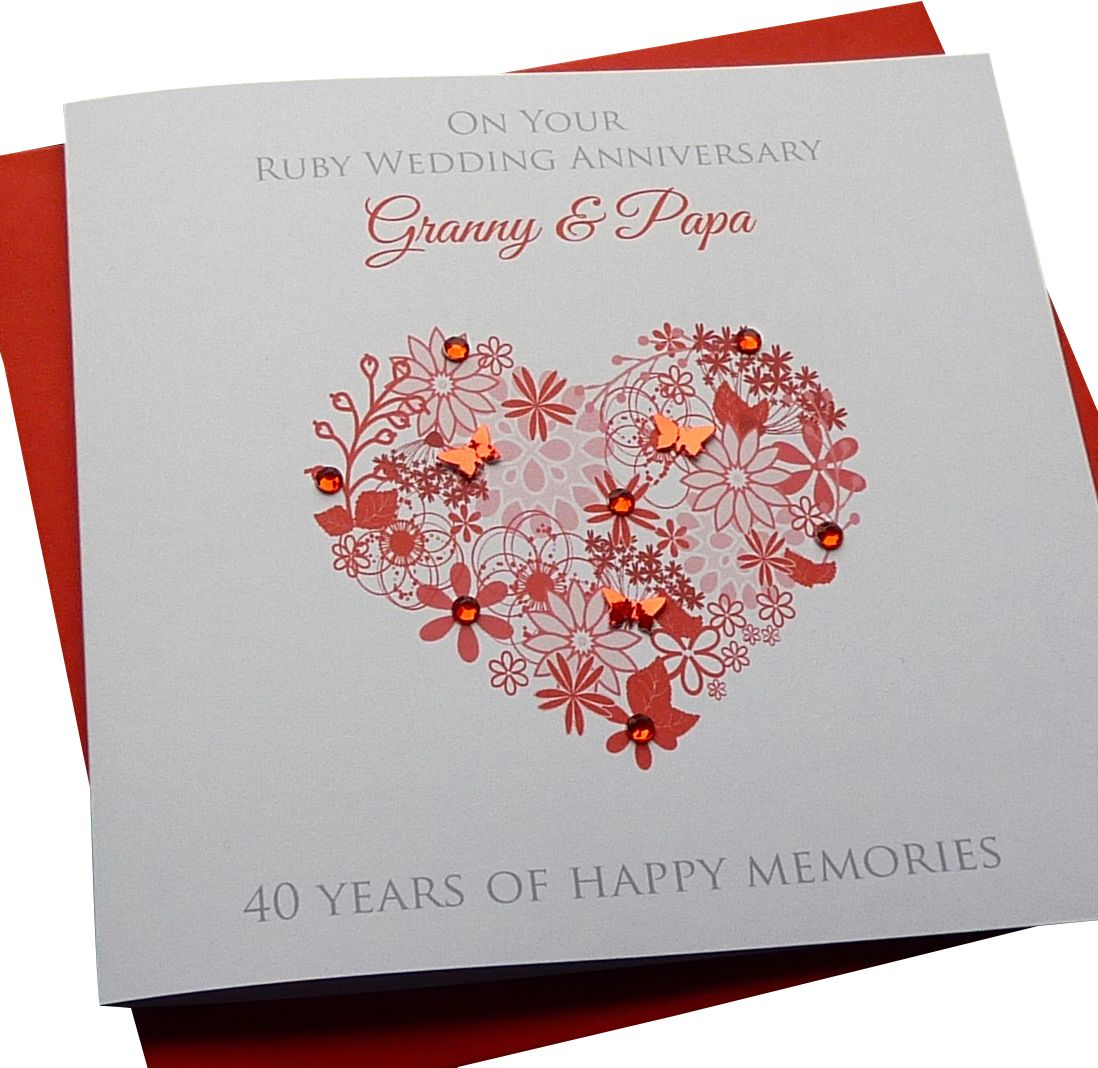 Ruby Floral Heart