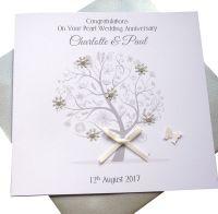 Pearl / 30th Wedding Anniversary Tree Card