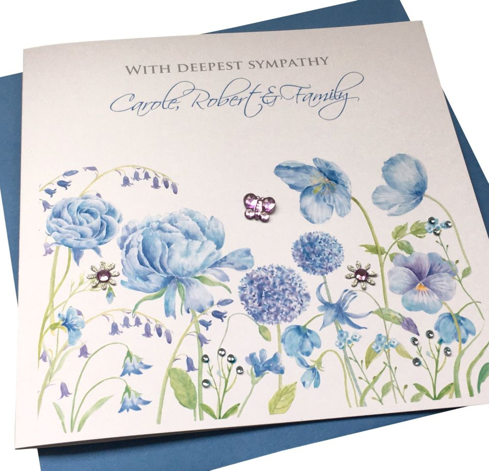 Floral Thinking Of You/ Sympathy Card