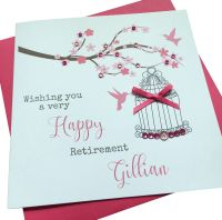 Birdcage and blossom Card