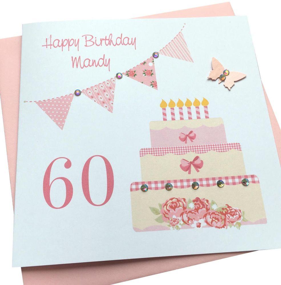 Birthday cake & bunting card