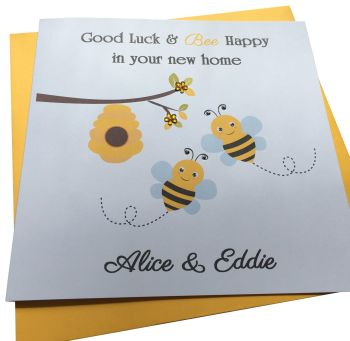 Bumble Bee  New Home Card