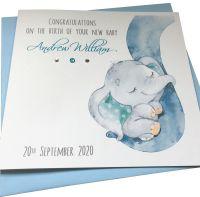 New Baby Boy Elephant Card