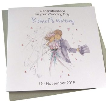 Bride & Groom Wedding Card (4)