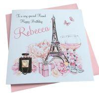 Paris theme birthday Card (2)