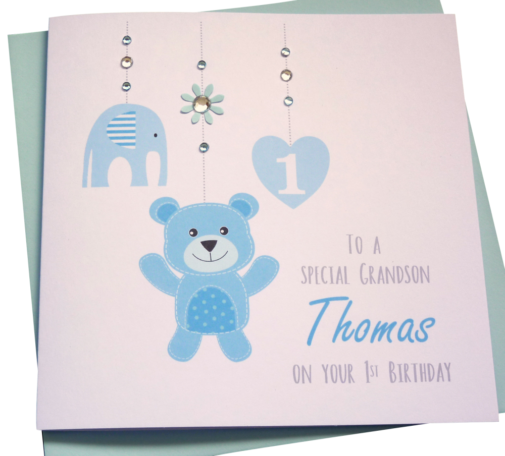 Baby Boys 1st Birthday Card