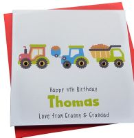 Truck,Train & Digger Card