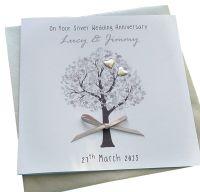 Silver / 25th Wedding Anniversary (heart tree)