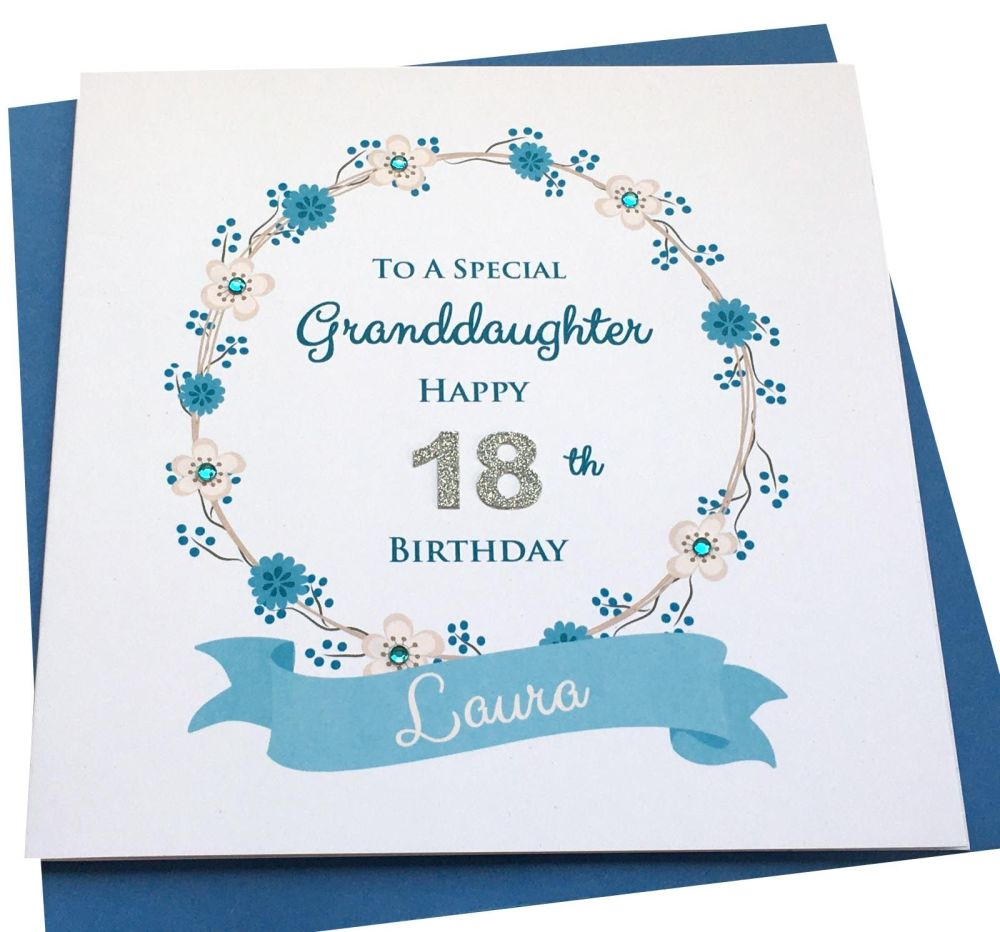 floral age birthday card- any age