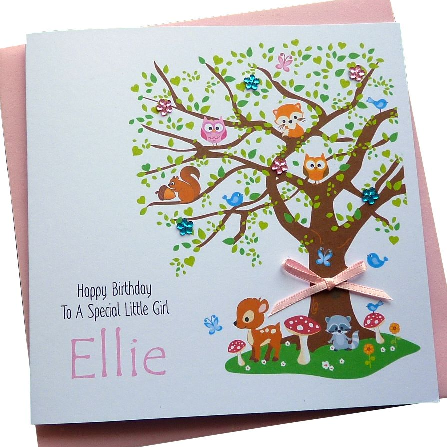 Woodland Tree Card