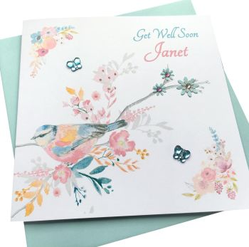 Get Well Soon Garden Bird  Card