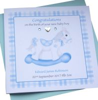 New Baby Boy Rocking Horse Card