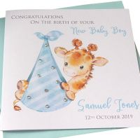 New Baby Boy Giraffe Card (3)