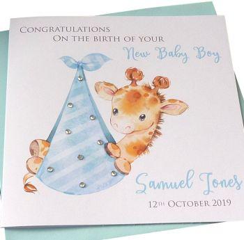 New Baby Boy Giraffe Card (3)
