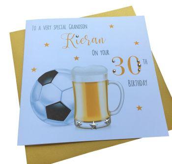 Beer and Football Birthday Card