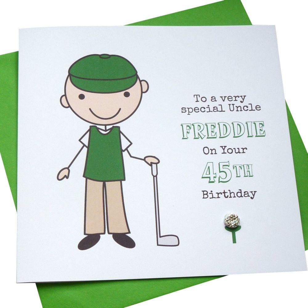 Golfer Birthday Card