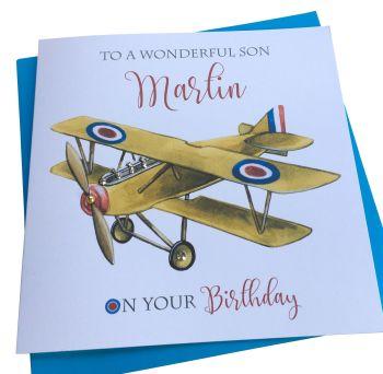 Aeroplane  Birthday Card