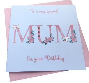 'Mum'  roses card
