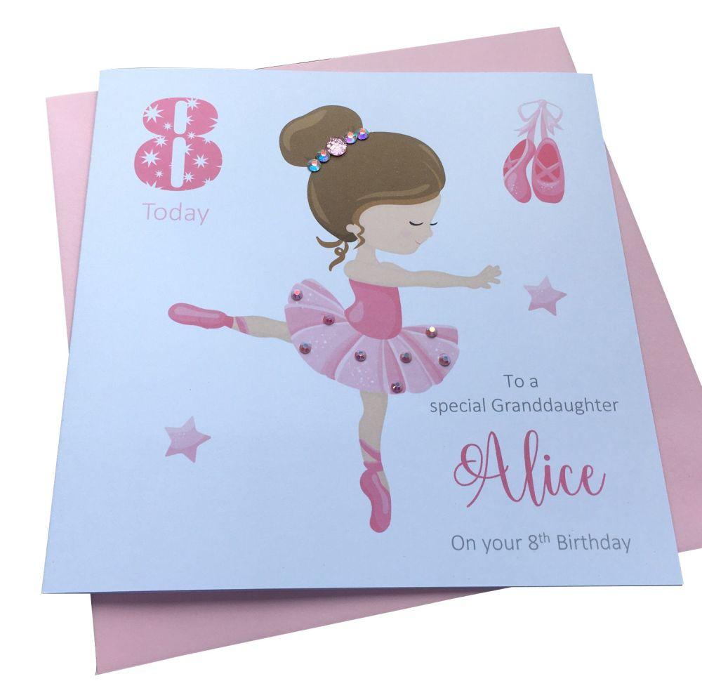 Ballerina Birthday Card (2)