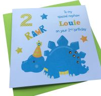 Blue Dinosaur Card