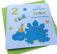 Blue Dinosaur Card