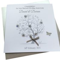 Diamond/ 60th Wedding Anniversary Tree Card
