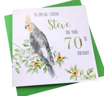 Cockatiel Birthday Card