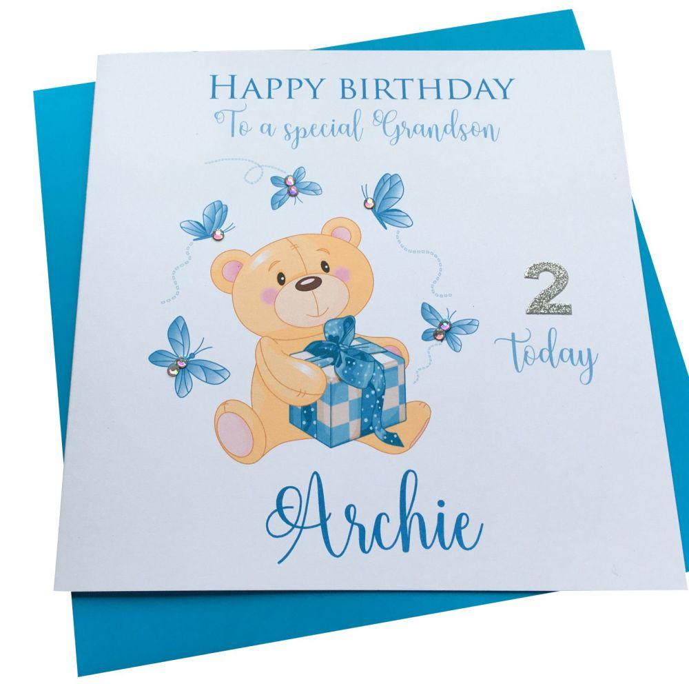 Teddy Bear Card - Blue