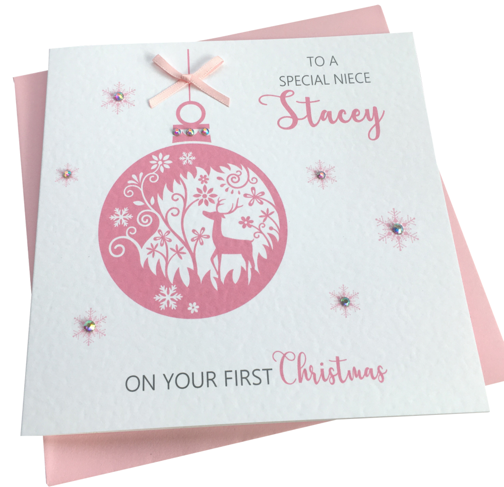 ' Pink Bauble ' Card