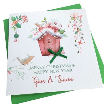 Christmas Birdhouse Card