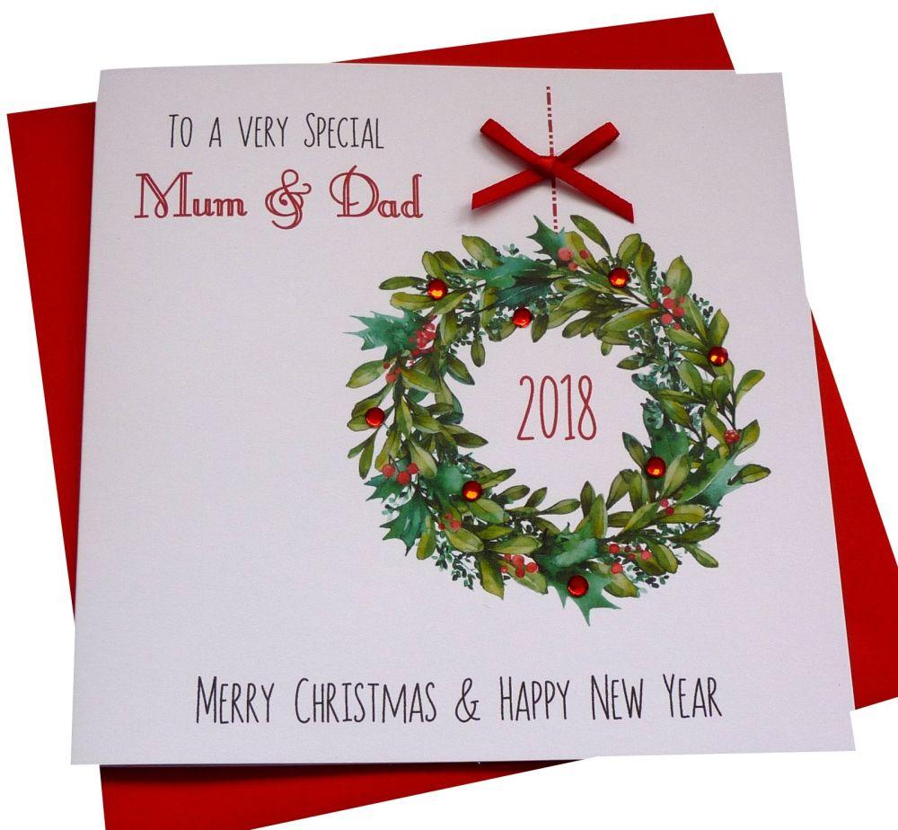 Traditional Christmas Garland Card