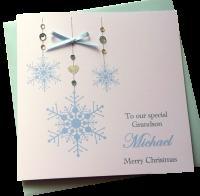 ' Blue Snowflakes ' Card