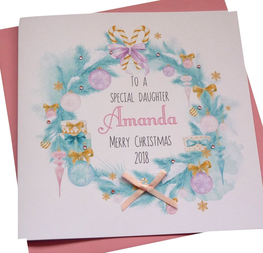 Pastel Christmas Garland Card
