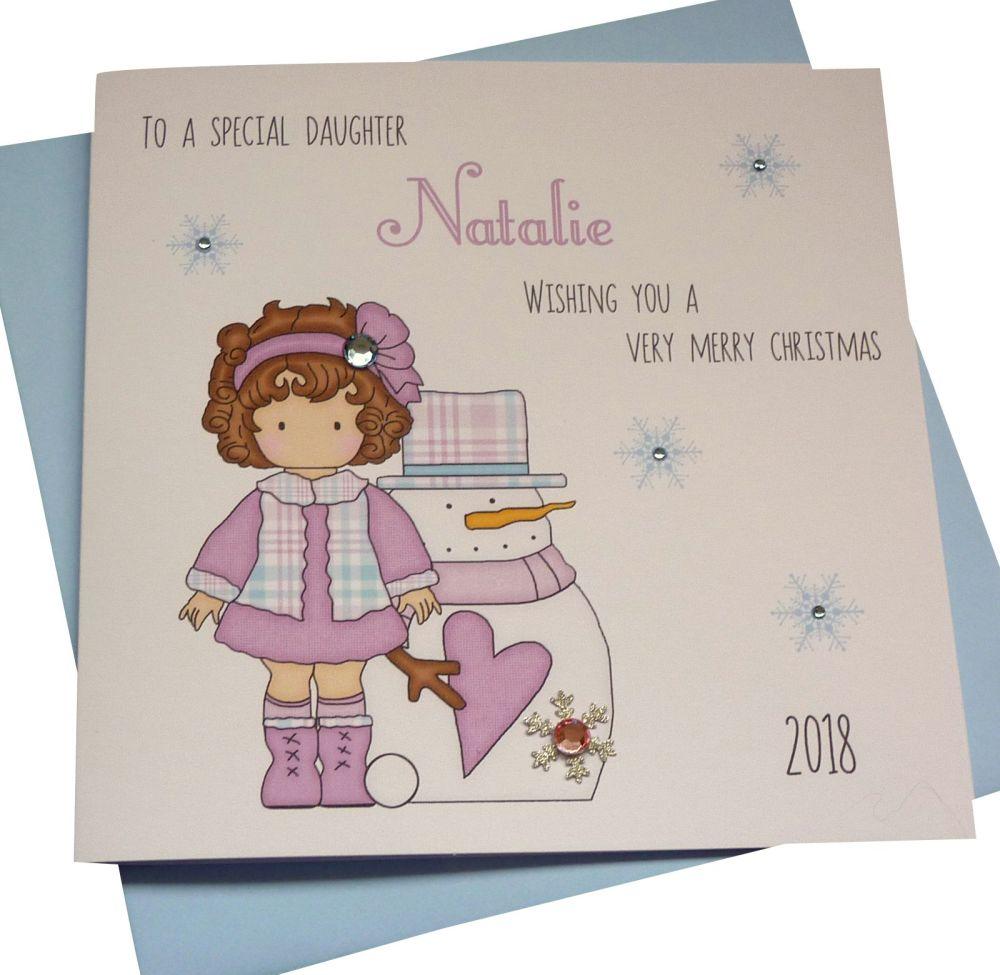Lilac Girl Christmas Card