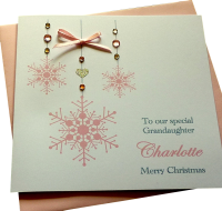 ' Pink Snowflakes ' Card