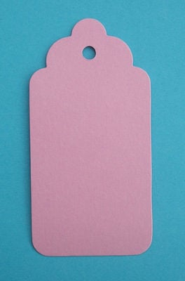 1 x Scalloped Tag