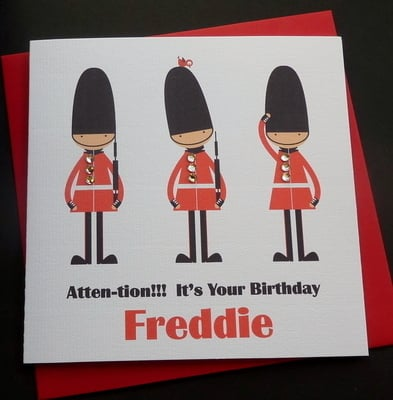 Queens Guard/ Soldier Birthday Card