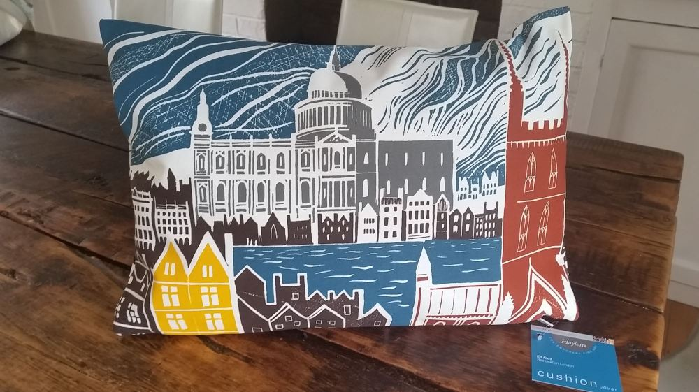 Ed Kluz Restoration London Cushion Cover