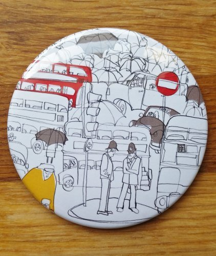 Susie Brooks Pocket Mirror, London Waiting
