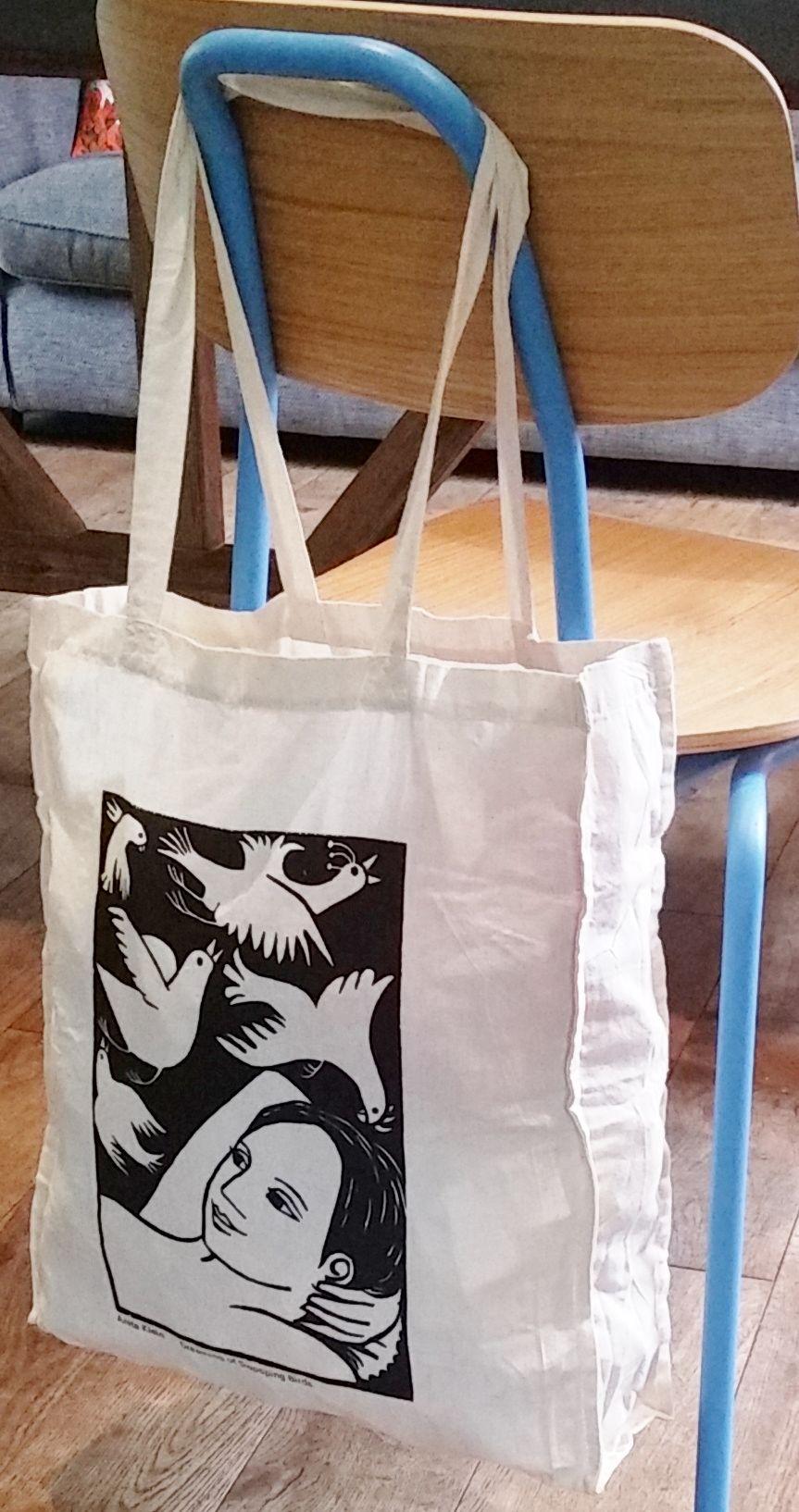 Anita Klein Cotton Shopping Bag, Dreaming of Swooping Birds