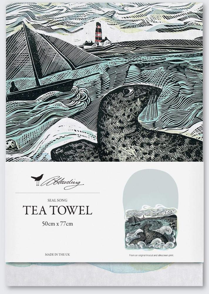 Angela Harding Seal Song Tea Towel